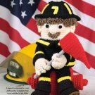 W681 Crochet PATTERN ONLY Firefighter Pottie Peeker Toilet Tissue Dispenser