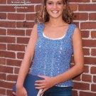 W682 Crochet PATTERN ONLY Ladies Tweed Pullover Vest Pattern