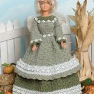 W685 Crochet PATTERN ONLY Fashion Doll Autumn Belle Southern Dress Pattern