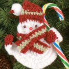W693 Crochet PATTERN ONLY Snowman Candy Holder Christmas Ornament Pattern