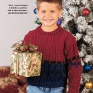 W696 Crochet PATTERN ONLY Kids Sporty Pullover Sweater Pattern