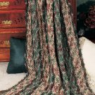 W699 Crochet PATTERN ONLY December Ribbons Christmas Afghan Pattern