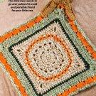 W701 Crochet PATTERN ONLY Portable Friend Bear Blankie Pattern