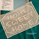 W705 Filet Crochet PATTERN ONLY Home Sweet Home Placemat Pattern