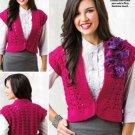 W720 Crochet PATTERN ONLY Ladies Finesse Vest Pattern