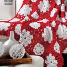 W723 Crochet PATTERN ONLY Winter Wonderland Snowflake Afghan Pattern