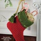 W724 Crochet PATTERN ONLY Elf Boot Christmas Stocking Pattern