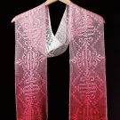 W733 Filet Crochet PATTERN ONLY Shades of Roses Painted Scarf Pattern