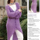 W735 Crochet PATTERN ONLY Evening Elegance Amethyst Jacket Pattern
