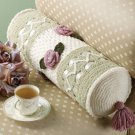 W736 Crochet PATTERN ONLY Feminine Rose Garden Bolster Pillow Pattern