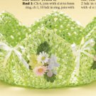 W737 Crochet PATTERN ONLY Paper Ribbon Basket Pattern