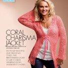 W739 Crochet PATTERN ONLY Coral Charisma Jacket Lacy Feminine Pattern