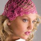 W740 Crochet PATTERN ONLY Roses Cloche Hat Pattern