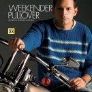 W741 Crochet PATTERN ONLY Men's Weekender Pullover Sweater Pattern