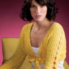 W744 Crochet PATTERN ONLY Sunny Day Go-Anywhere Bolero Pattern