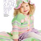 W748 Crochet PATTERN ONLY Petals & Plaid Baby Set Hat Sweater Blanket Patterns