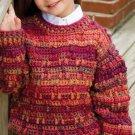 W753 Crochet PATTERN ONLY Pine Ridge Textured Pullover Sweater Pattern Child