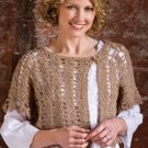 W755 Crochet PATTERN ONLY Hooked-on-a Feeling Shrug Pattern