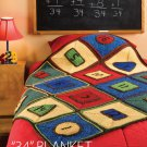 W759 Crochet PATTERN ONLY Educational Kids' Mathematical Afghan Pattern