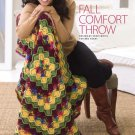 W760 Crochet PATTERN ONLY Fall Comfort Throw Afghan Pattern