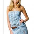 W764 Crochet PATTERN ONLY Summer Breeze Miniskirt & Top Pattern Set
