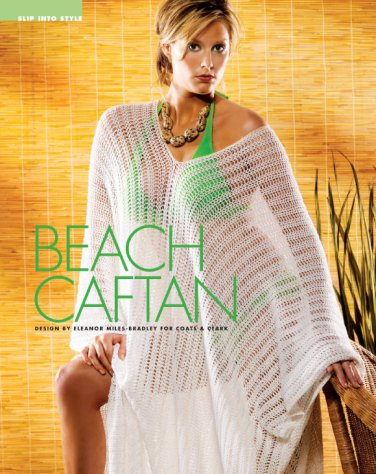 W766 Crochet PATTERN ONLY Beach Pool Caftan Bikini Cover-up Pattern
