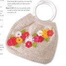 W771 Crochet PATTERN ONLY Fanciful Flowers Purse Bag Pattern