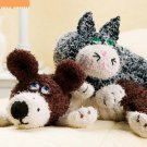 W773 Crochet PATTERN ONLY Furry Friends Neck Pillow Cuddly Dog & Cat Patterns