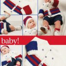 W781 Crochet PATTERN ONLY Patriotic Baby Boy and Girl Sweater / Hat Patterns