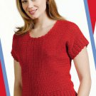 W782 Crochet PATTERN ONLY Ladies Firecracker Top Short Sleeve Pattern