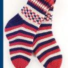 W783 Crochet PATTERN ONLY Stars and Stripes Socks Pattern