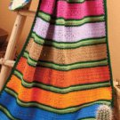 W793 Crochet PATTERN ONLY Serape Afghan Throw Look Alike Pattern