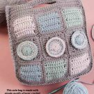 W795 Crochet PATTERN ONLY Learn-a-Stitch Bag Tote Pattern