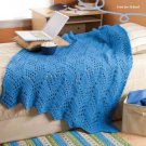 W806 Crochet PATTERN ONLY Mountain High Ripple Afghan Throw Pattern