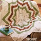 W807 Crochet PATTERN ONLY Round Ripple Afghan Throw Pattern
