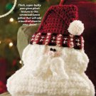 W812 Crochet PATTERN ONLY Santa Face Pillow Pattern