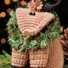W813 Crochet PATTERN ONLY Baby Blitzen Reindeer Shelf-Sitter Pattern