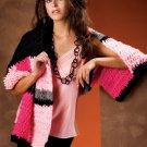 W824 Crochet PATTERN ONLY Geometric Color Block Wrap Pattern