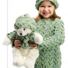 W827 Crochet PATTERN ONLY Tofu Bear and Child Sweater & Hat Pattern Sets
