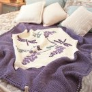 W834 Crochet PATTERN ONLY Dragonfly Afghan Throw Pattern