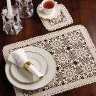 W835 Crochet PATTERN ONLY Summer Dreams Place Mat & Coaster Set Pattern