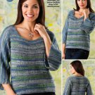 W837 Crochet PATTERN ONLY Janel Tunisian Pullover Top Sweater Pattern to 3XL