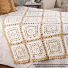 W841 Crochet PATTERN ONLY Mosaic Granny Square Throw Afghan Pattern
