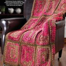 W842 Crochet PATTERN ONLY Greek Granny Squares Afghan Throw Pattern