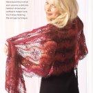 W843 Crochet PATTERN ONLY Hairpin Lace Shawl Wrap Pattern