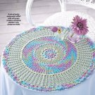 W851 Crochet PATTERN ONLY Reflections Rainbow Doily Pattern