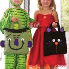 W860 Crochet PATTERN ONLY Baby Frankie & Scaredy Cat Treat Bag Patterns