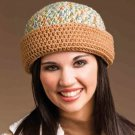 W863 Crochet PATTERN ONLY Double-Warm Hat Pattern