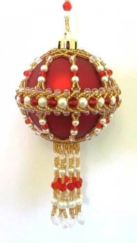 Z246 Bead PATTERN ONLY Beaded Christingle Christmas Ornament Cover