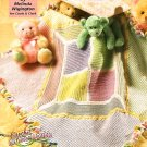 Z047 Crochet PATTERN ONLY Colors of the Rainbow Baby Blanket Pattern
